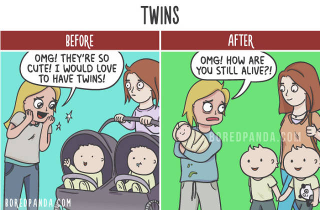 Before And After Your Kids Are Born (20 pics)