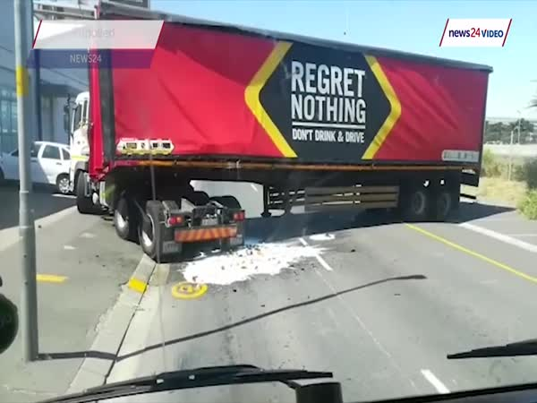 Lorry Driver Sheds His Load Of Beers In Cape Town