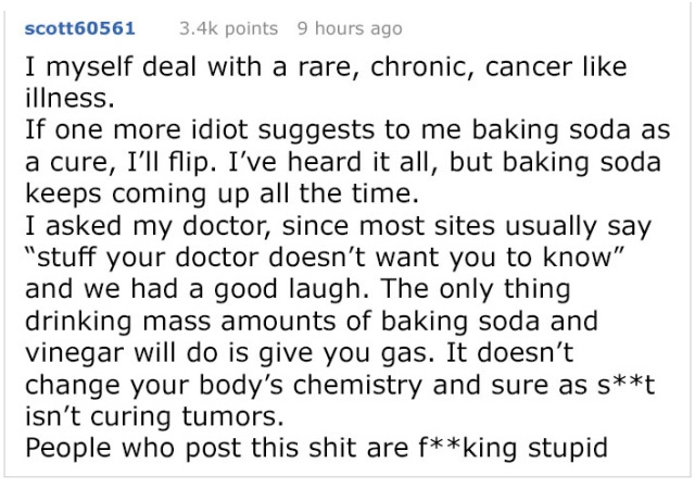 Alternative Medicine Advocate Tells This Internet User How To Cure Their Tumor, Gets Shut Down With Facts (9 pics)