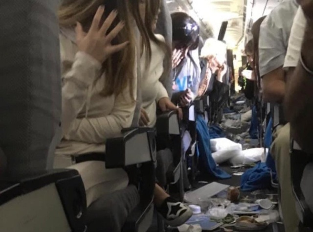 Plane After Severe Turbulence Which Injures 15 Passengers (4 pics)