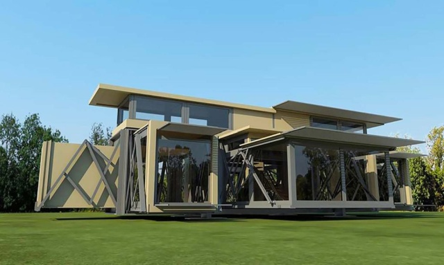 These Self-Deploying Buildings Pop Up In 8 Minutes Flat (10 pics)