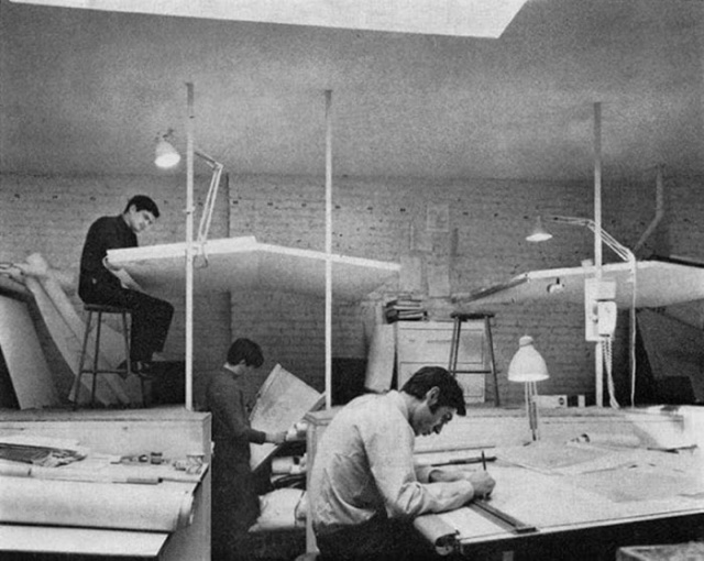 Vintage Photos That Show What Life Was Like Before AutoCAD Was Invented (19 pics)