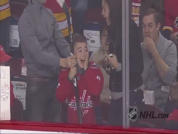 Alex Ovechkin Gives Boy His Stick And Makes A Fan For Life