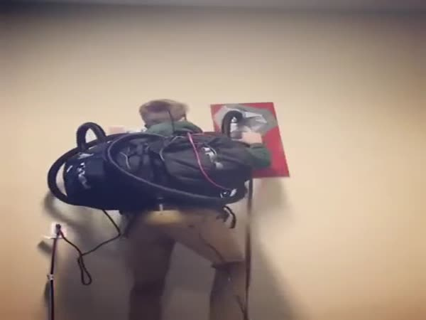 Spiderman Climbs Walls With Vacuum Cleaner