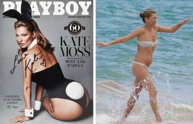 Celebrities In Real Life Vs Magazine Covers (22 pics)