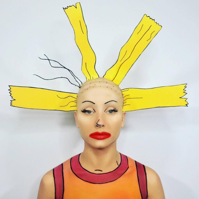She Turns Herself Into A Toon With Makeup (12 pics)