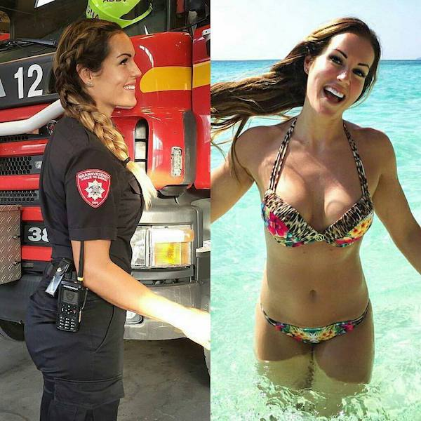 Girls With And Without Uniform (30 pics)