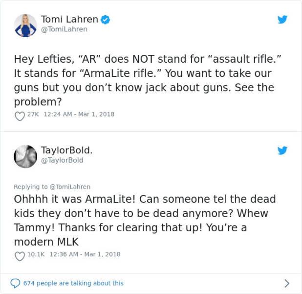 Comebacks Against Gun Activists (22 pics)