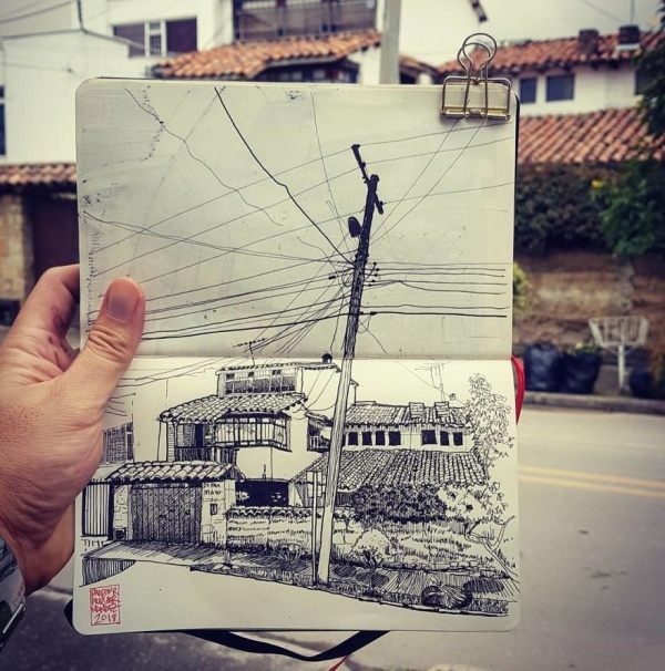 Architect Sketches The World Around Him (23 pics)