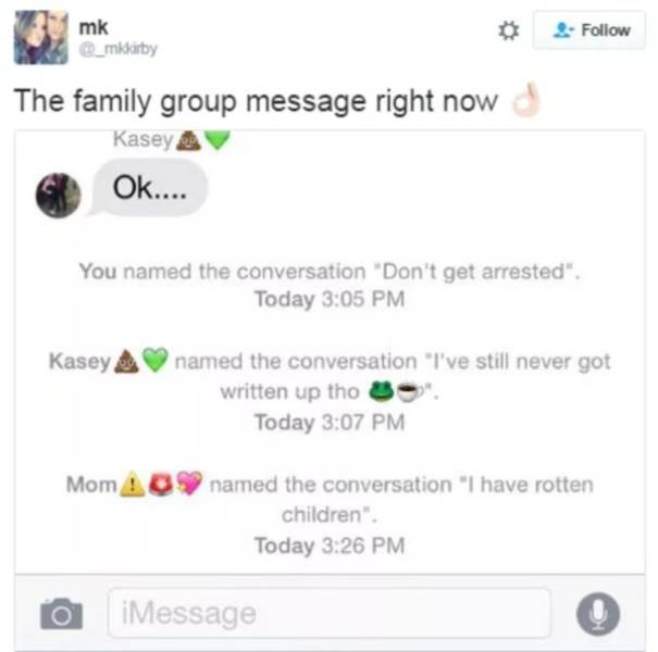 Family Group Chats (22 pics)