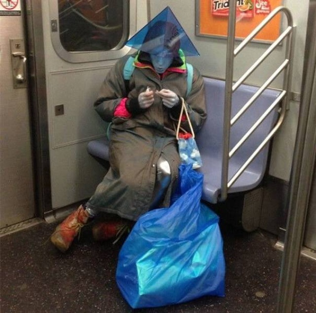 Public Transportation Can Be A Very Strange Place (28 pics)