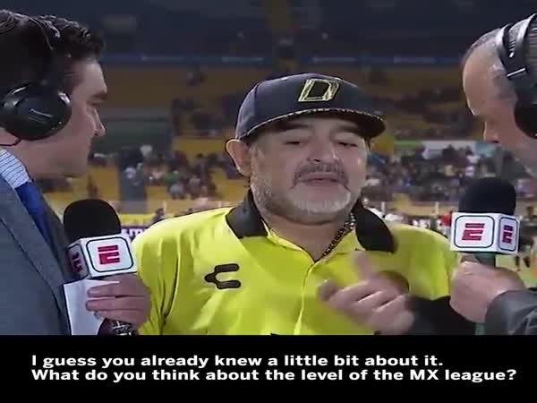 Diego Maradona Drops One Of The Weirdest Post-Match Interviews Of All Time