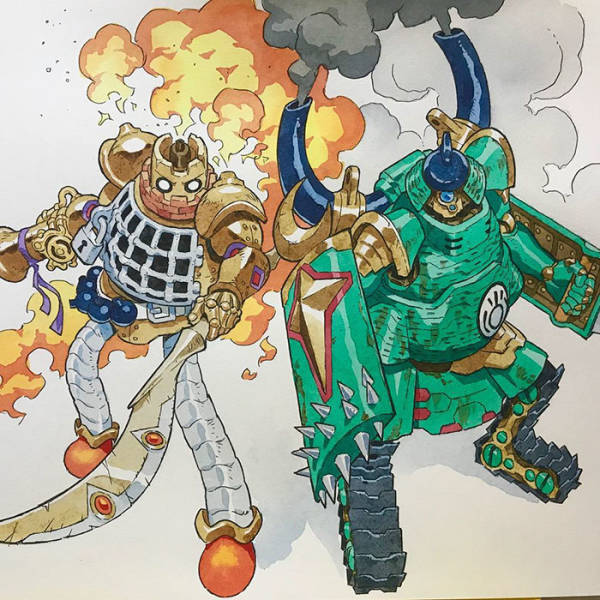 Artist Professionally Transforms His Sons' Doodles Into Amazing Cartoon Characters (27 pics)