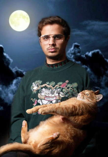 Men Posing With Cats (20 pics)