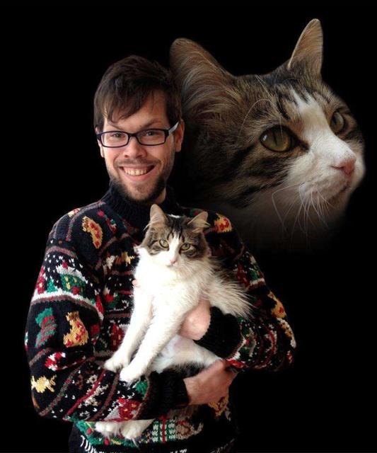Men Posing With Cats (20 pics)