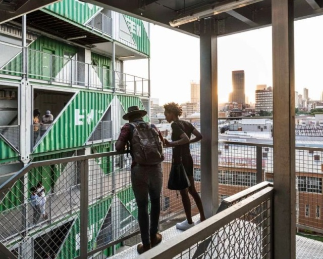 Residential Building in South Africa Made Out of 140 Upcycled Shipping Containers (13 pics)