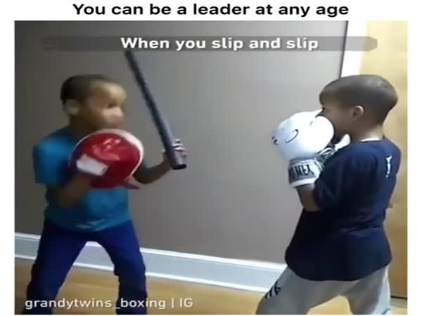 Kid Teaches His Brother Essential Life Skills