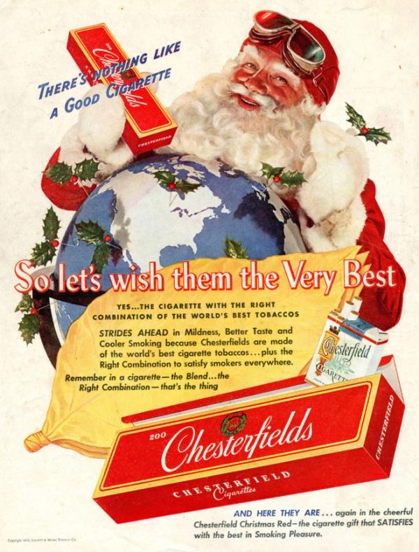 Vintage Tobacco Christmas Ads (18 pics)