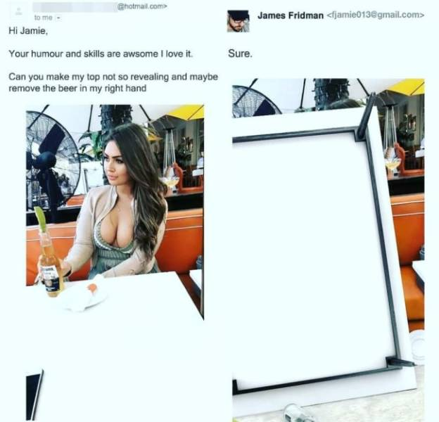 Never Ask James Fridman To Photoshop Your Pictures! (33 pics)