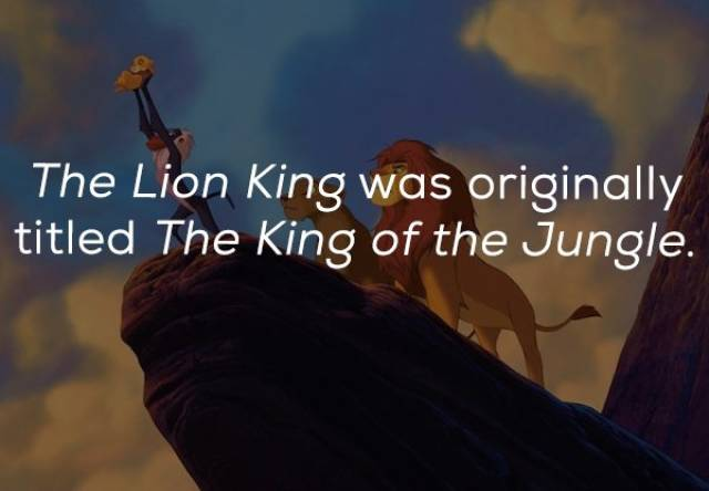 "Facts About ""The Lion King"" (21 pics)"