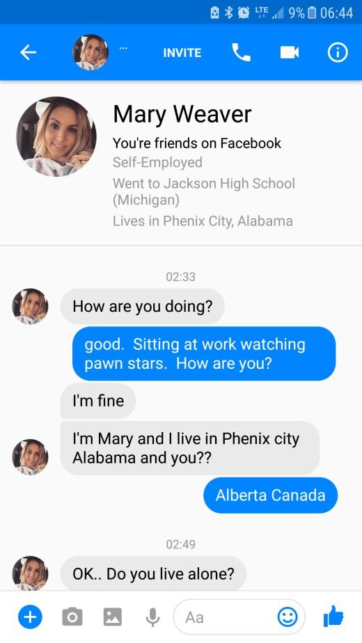 Woman Gets Weird Random Message (9 pics)