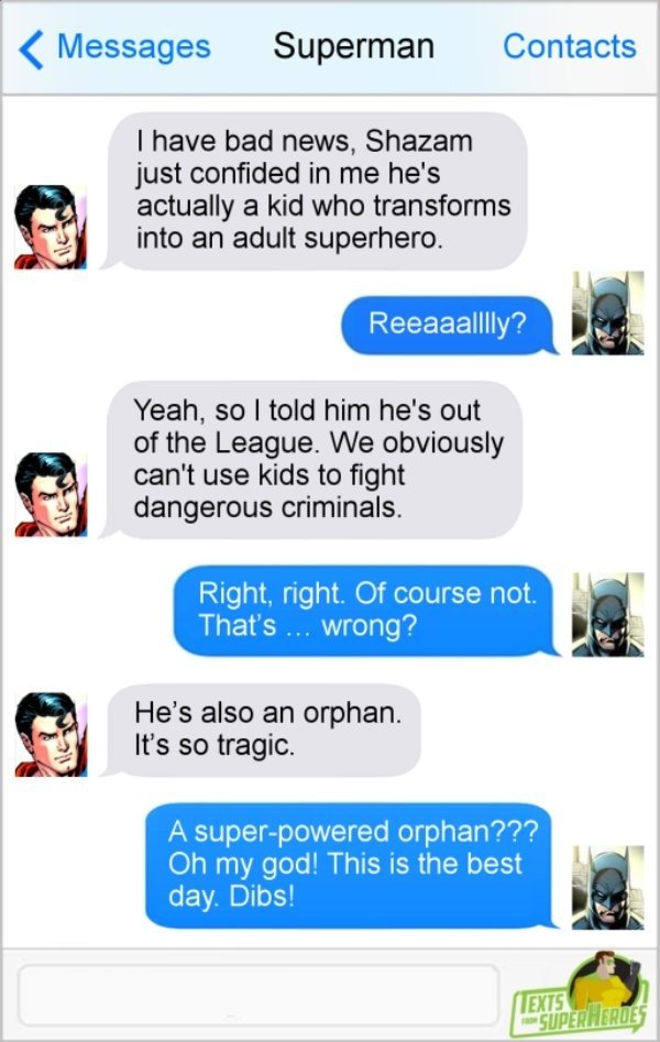 Texts From Superheroes (17 pics)