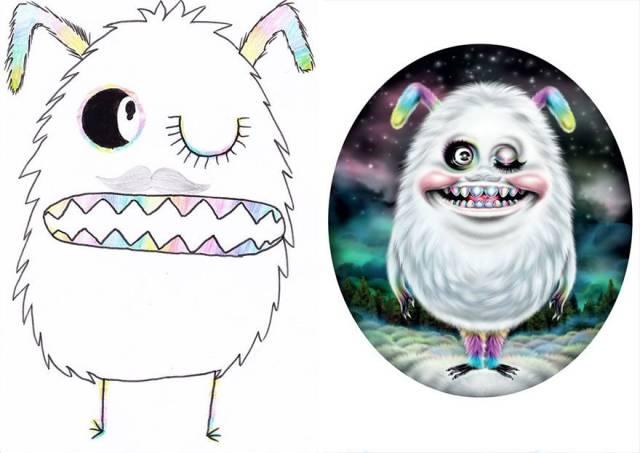 Artists Make Kids' Monster Doodles (50 pics)