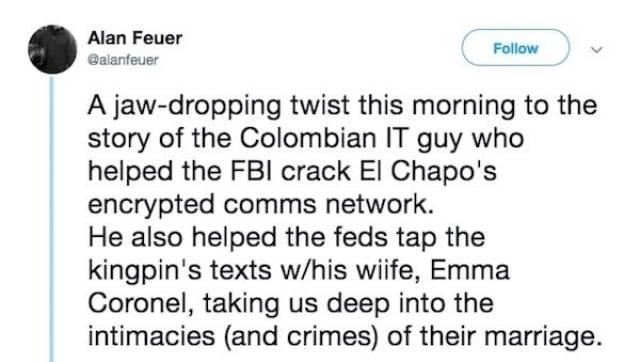 El Chapo's IT Guy Has A Wild Story (18 pics)