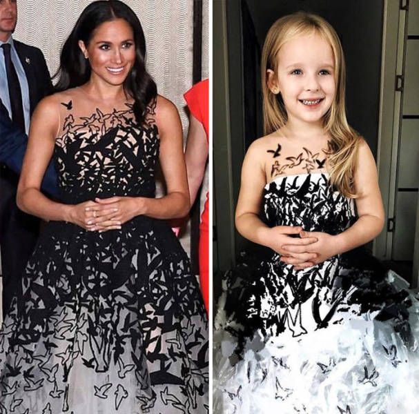 Budget Celebrity Outfits By A Little Girl (30 pics)