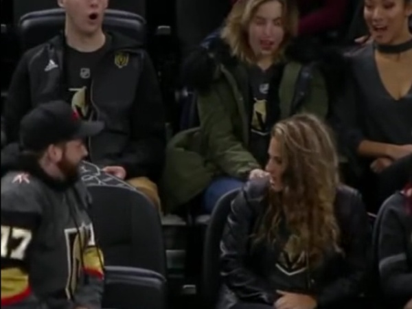 Kiss Cam Proposal Gets Baby Sharked