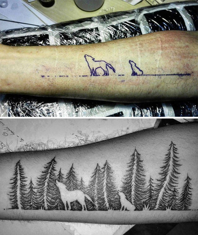 How To Cover A Scar With Tattoo (41 pics)