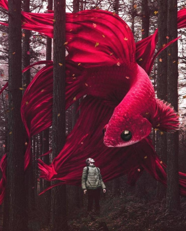 This Photoshop Artist Blurs The Line Between Imagination And Reality (37 pics)