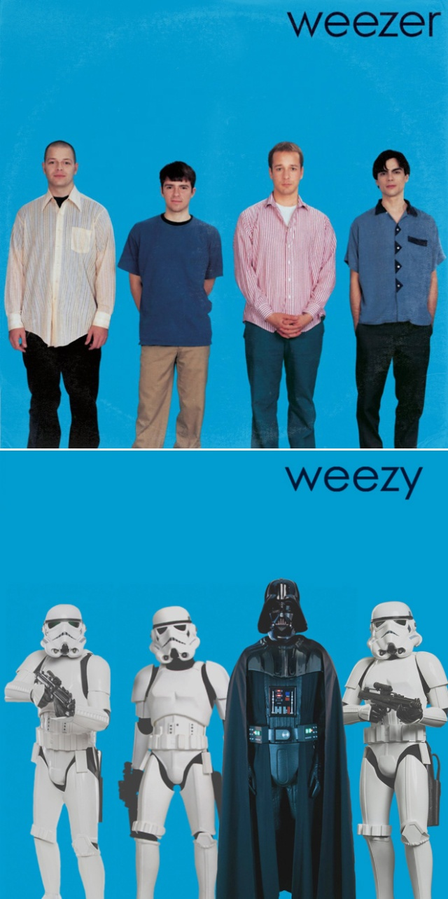 Classic Album Covers Improved by Star Wars Characters (18 pics)