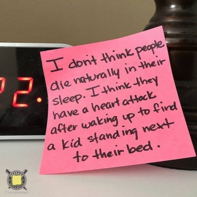 Post-It Notes By One Dad All Parents Can Relate To (35 pics)