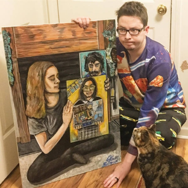 How A Simple Painting Became Viral And Recursive (9 pics)
