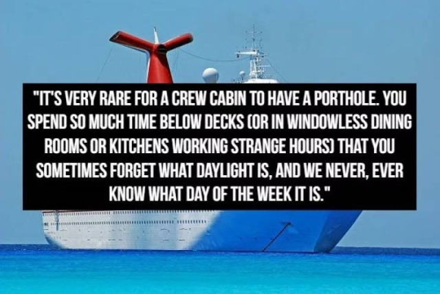 Confessions From A Cruise Ship Worker (15 pics)