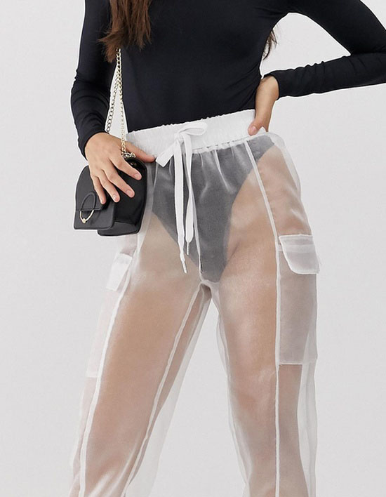 $52 See-Through Trousers (5 pics)