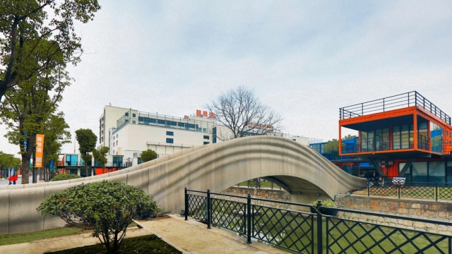 World's Longest 3D-printed Concrete Bridge In Shanghai (5 pics)