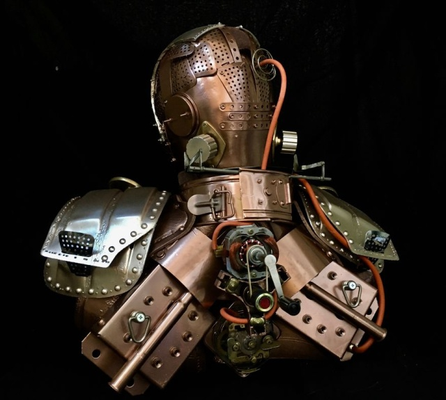 Great Steampunk Sculptures From Recycled Materials (24 pics)