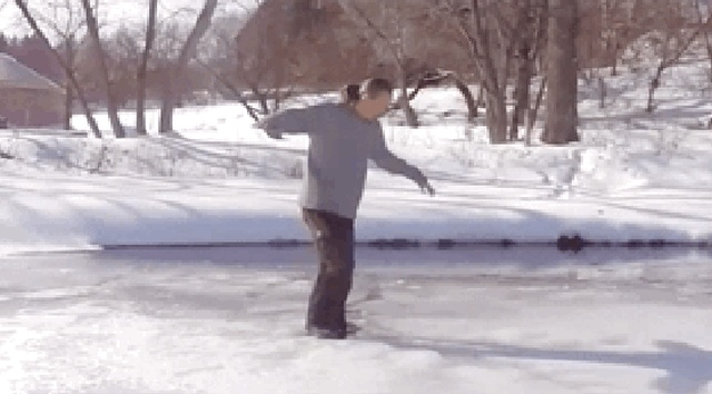 What You Need To Do If You Happen To Fall Through Ice (12 gifs)