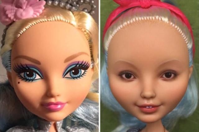 Artist Olga Kamenetskaya Turns Unrealistic Dolls Into Real Women (22 pics)