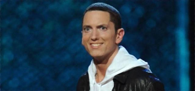 Guy Photoshops Smile To Eminem Photos (25 pics)