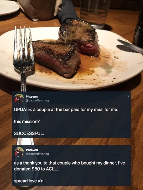 Guy Was Trying To Scam A Free Steak (11 pics)