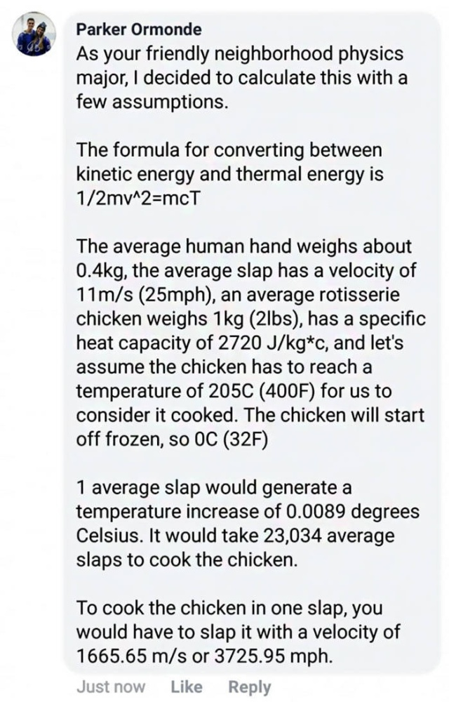 Physics Major Looks For A Way To Cook Chicken By Slapping It (26 pics)