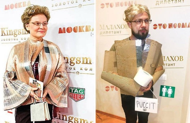A Russian Blogger Shows Funny Celebrity Cosplays  (26 pics)