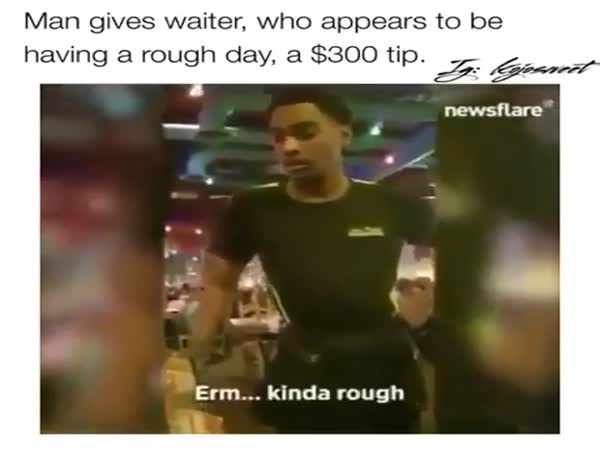 Man Gives Waiter $300 Tip And Getting Tips He Was Crying
