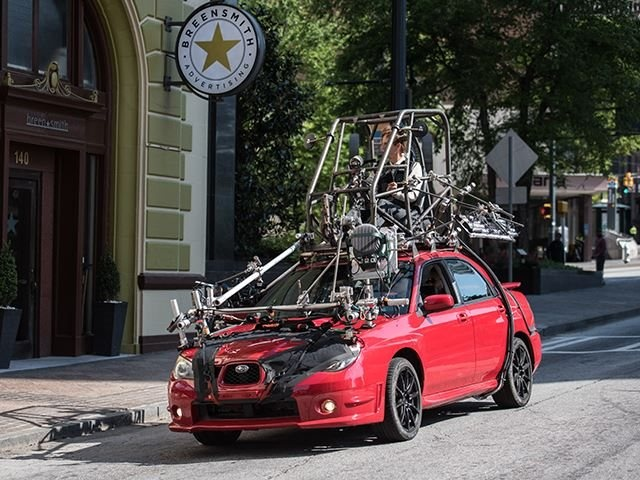 The Stunt Driver Behind Baby Driver's Crazy Car Chases (3 pics)