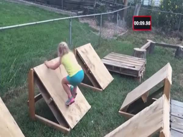 Dad Builds Ninja Warrior Course For His Daughter