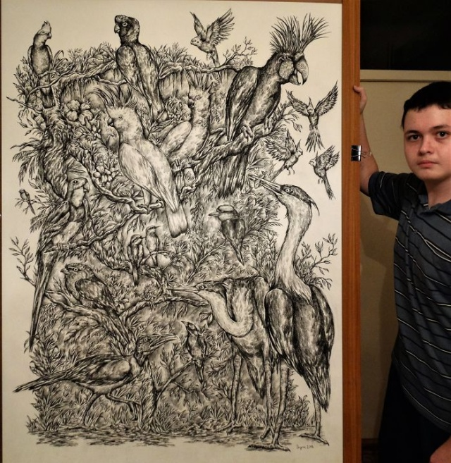 Started At 4, Here Is What He Has Drawn By Age 16 (32 pics)