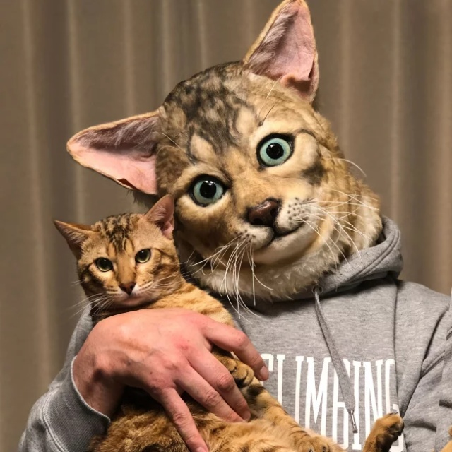Japanese Company Makes Masks Of Your Pet's Face (5 pics)